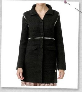 crochet grandma coat_black front